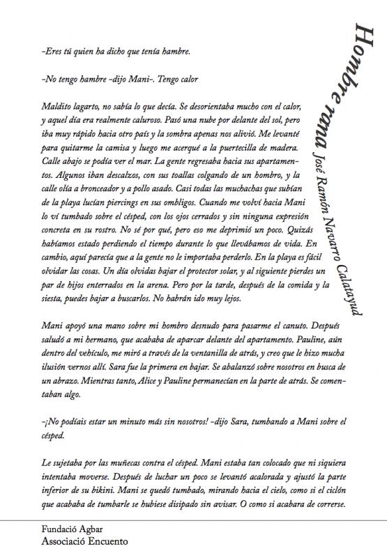 Página impar de Capítulo del Libro del I Concurso de Cuentos de Agua