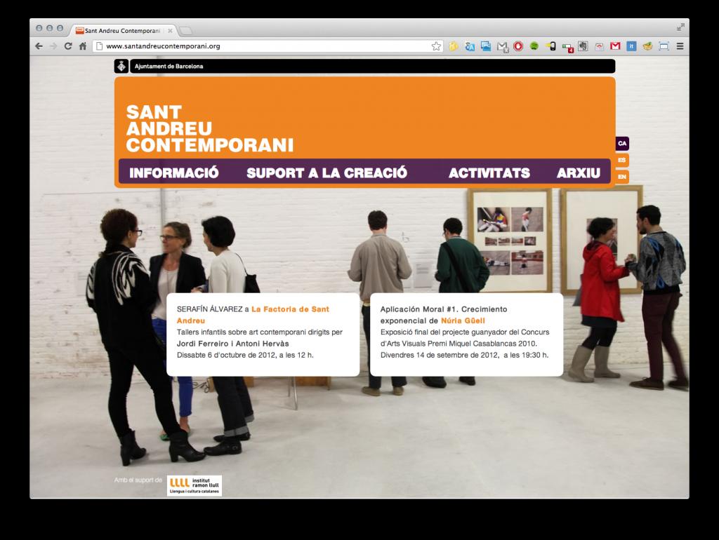 Diseño de la página de inicio de la web