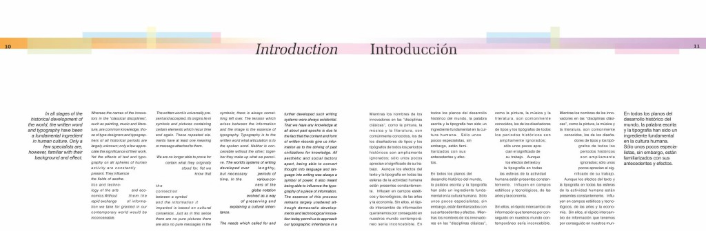 Book layout - Double page layout- Introduction