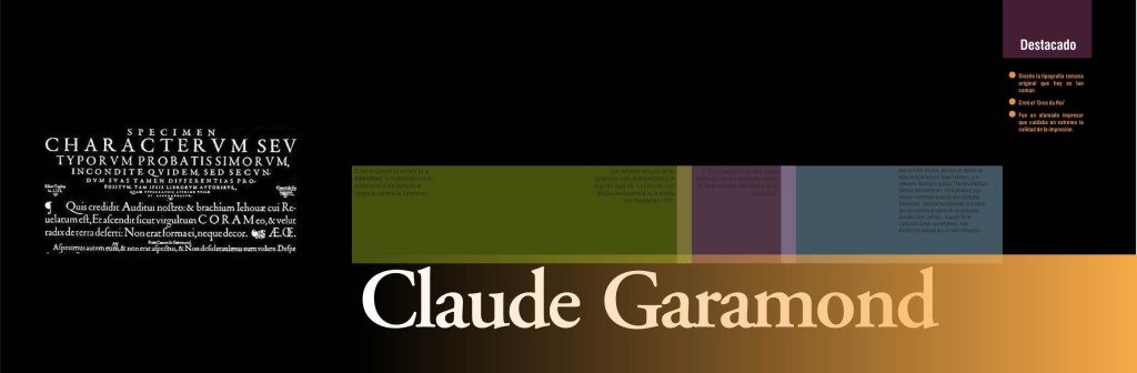 Book layout - Chapter cover - Claude Garamond