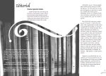 double page layout for the second issue of Siwsiwez magazine - Editorial