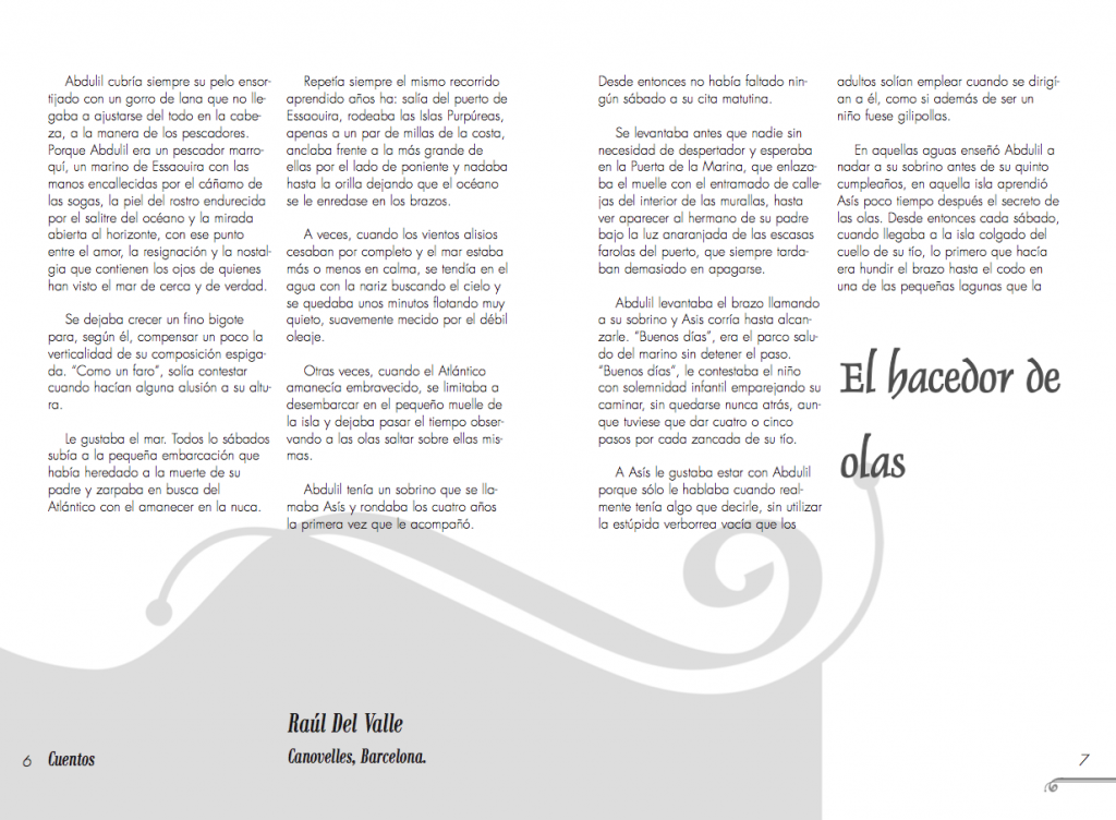 magazine layout - Inner double page for the first issue of Siwsiwez magazine