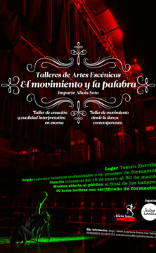 Poster design – Talleres de artes escénicas